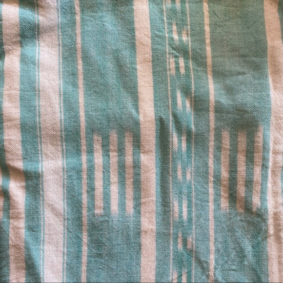 Cb2 long cotton ikat turquoise throw pillow cover